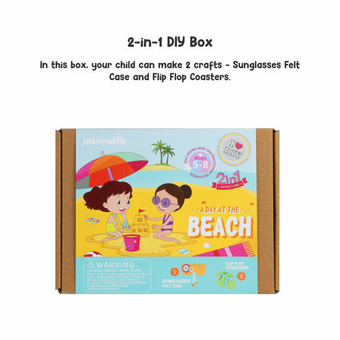 A Day at the Beach 2-in-1 DIY Craft Box
