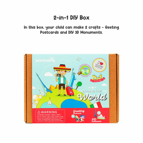 Around the World 2-in-1 DIY Craft Box