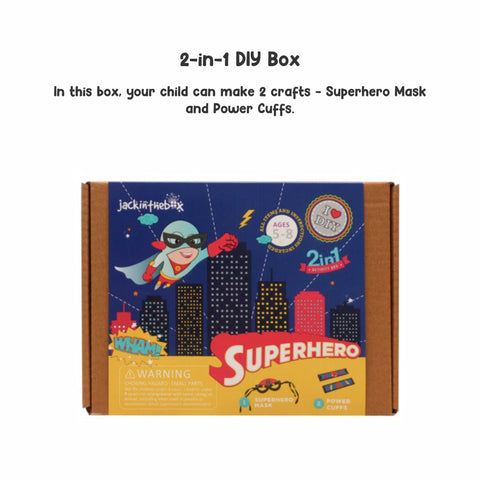Superhero 2-in-1 DIY Craft Box