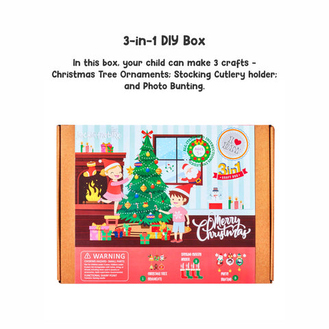 Merry Christmas - 3-in-1 DIY Craft Box
