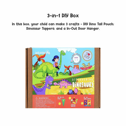 Discovering Dinosaurs 3-in-1 DIY Craft Box