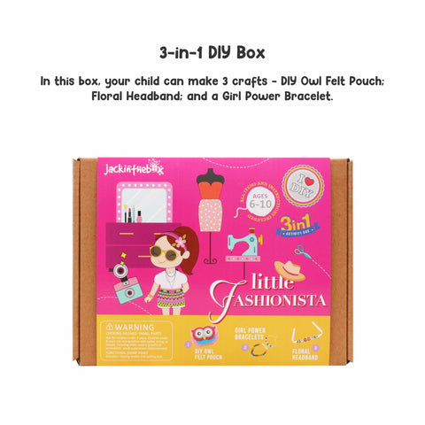 Little Fashionista 3-in-1 DIY Craft Box