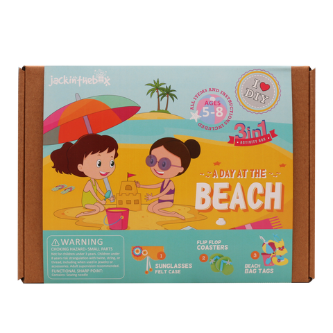 A Day at the Beach 3-in-1 DIY Craft Box