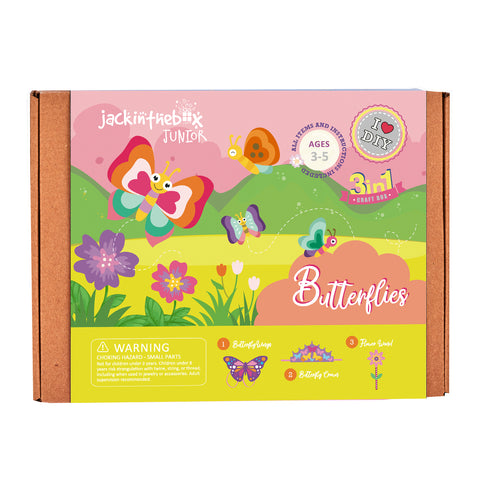 Junior Butterflies 3-in-1 DIY Craft Box