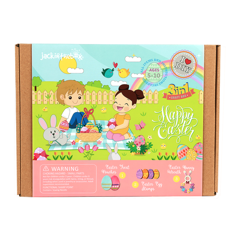 Happy Easter 3-in-1 DIY Craft Box