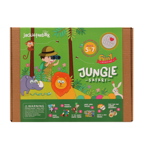 Jungle Safari 6-in-1 DIY Craft Box