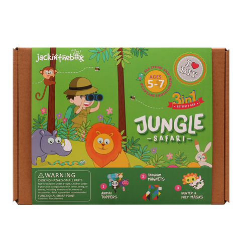 Jungle Safari 3-in-1 DIY Craft Box