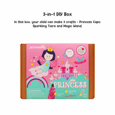 Princess 3-in-1 DIY Craft Box