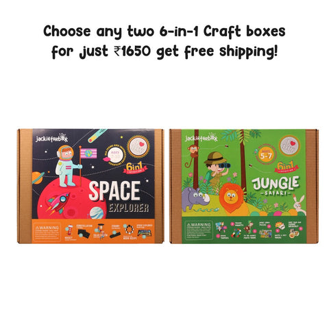 Buy Two 6-in-1 DIY Craft Boxes for ₹1650