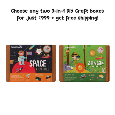Buy Two 3-in-1 DIY Craft Boxes for ₹999!
