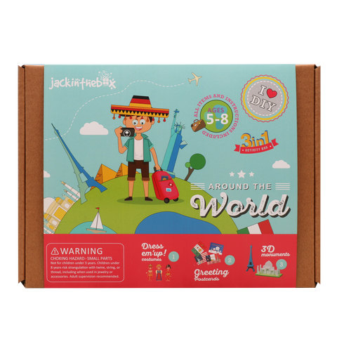 Around the World 3-in-1 DIY Craft Box