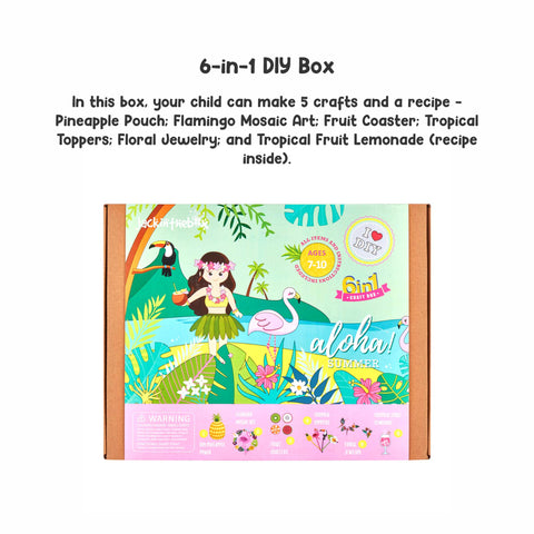 Aloha Summer! 6-in-1 DIY Craft Box