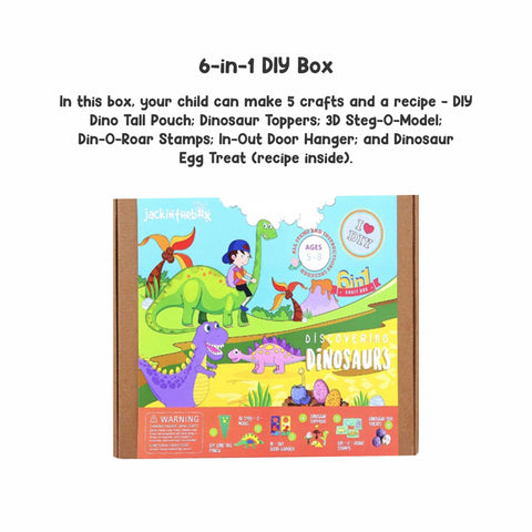 Discovering Dinosaurs 6-in-1 DIY Craft Box