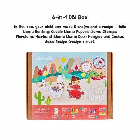 Hello Llama - 6-in-1 DIY Craft Box