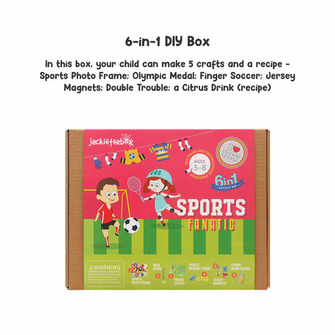 Sports Fanatic 6-in-1 DIY Craft Box