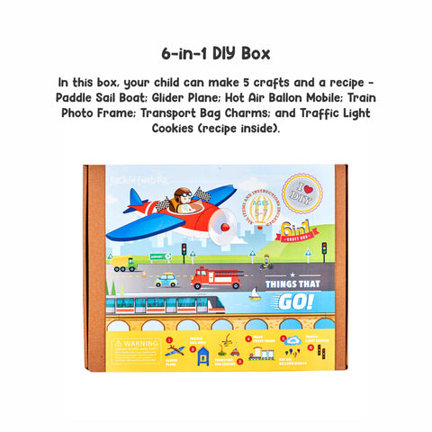 Things That Go 6-in-1 DIY Craft Box