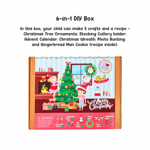 Merry Christmas - 6-in-1 DIY Craft Box