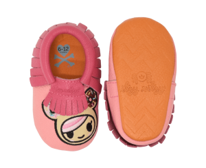 Itzy Ritzy Moc Happens - Tokidoki Baby Moccasins Shoes - Donutella - Blashful