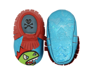 Itzy Ritzy Moc Happens - Tokidoki Baby Moccasins Shoes - Kaiju