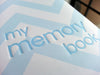 Pearhead Baby Memory Book - Blue Chevron - Blashful