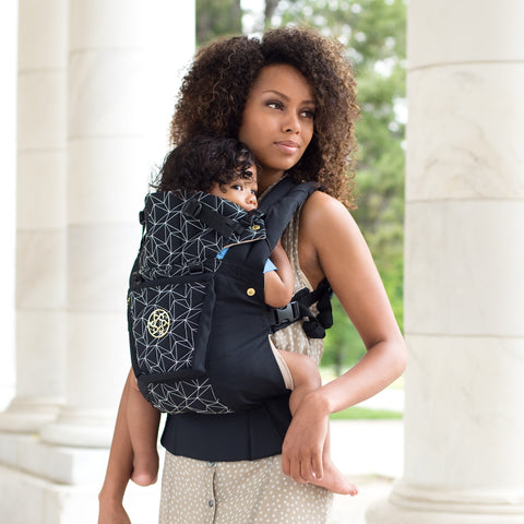LILLEbaby - Complete Embossed Luxe Baby Carrier - BLACK DIAMOND