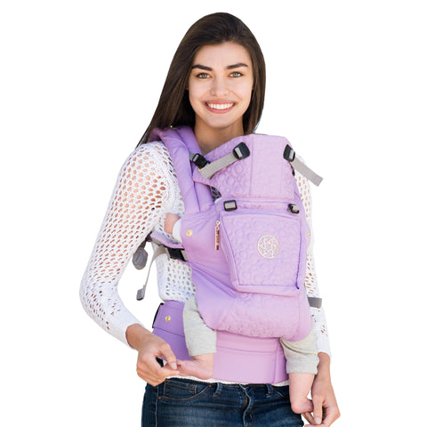 LILLEbaby - Complete Embossed Luxe Baby Carrier - LAVENDER