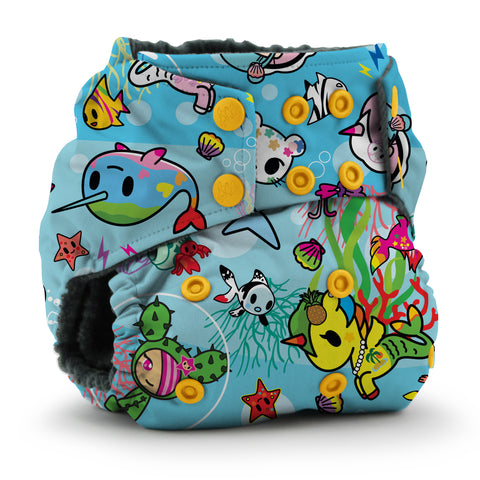 Kanga Care x Tokidoki - TokiSea - Rumparooz OBV One Size Cloth Diaper