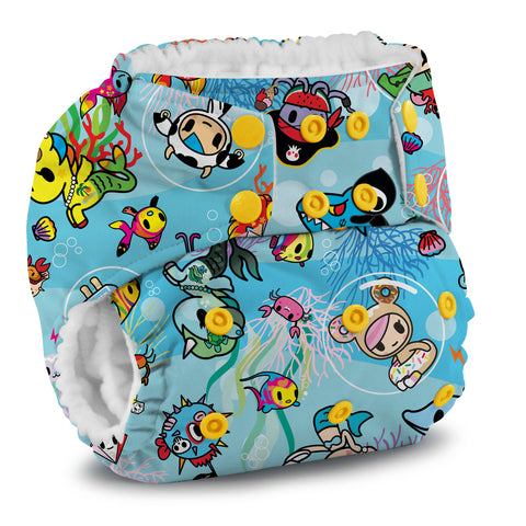 Kanga Care x Tokidoki - TokiSea Rumparooz G2 One Size Cloth Diaper