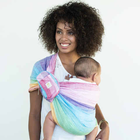 LILLEbaby - Ring Sling Baby Carrier - RAINBOW