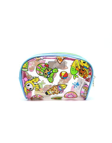 Tokidoki Pool Party - Clear Cosmetic Case