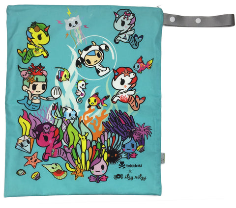 Itzy Ritzy Tokidoki Collection - Underwater Adventure - Large Wet Bag - Blashful