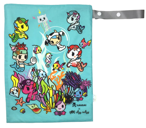 Itzy Ritzy Tokidoki Collection - Underwater Adventure - Medium Wet Bag - Blashful