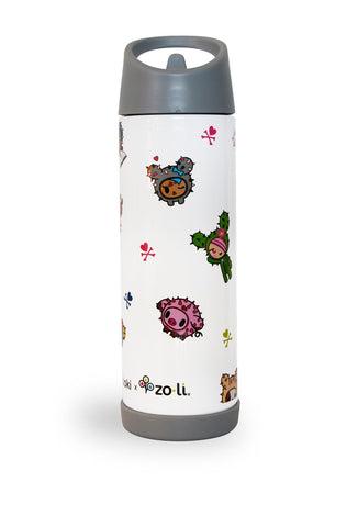 ZoLi TokiPIP - Cactus Friends - 16 oz Insulated Water Bottle - Tokidoki Accessories