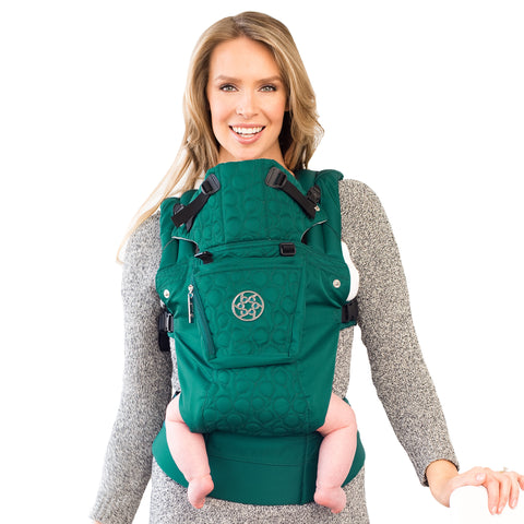LILLEbaby - Complete Embossed Luxe Baby Carrier - EMERALD