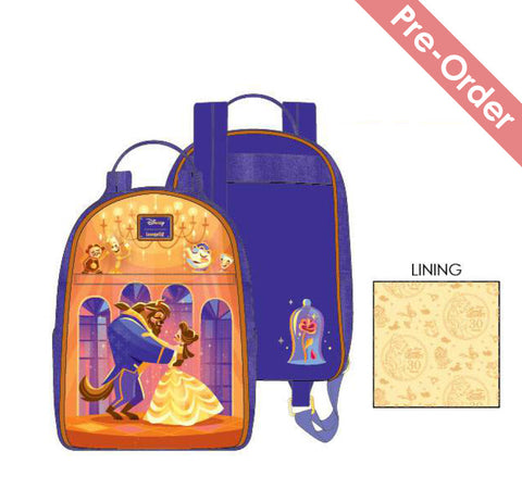 Loungefly - Disney - Beauty and the Beast Ballroom Scene Mini Backpack (May Pre-Order)