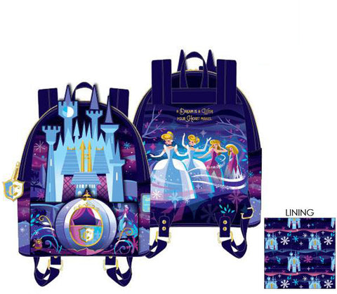 Loungefly - Disney - Cinderella Castle Series Mini Backpack (June Pre-Order)
