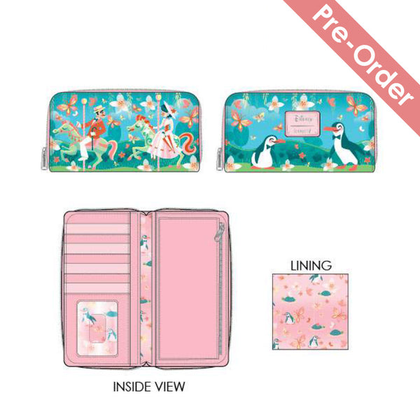 Loungefly - Disney - Mary Poppins Jolly Holiday Ziparound Wallet (May Pre-Order)