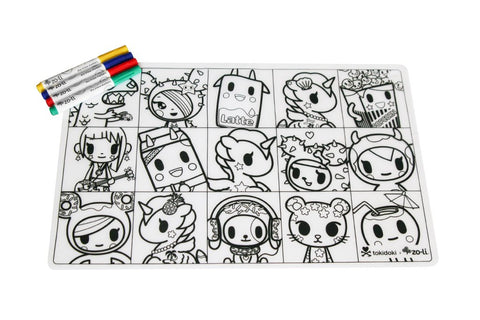 ZoLi TokiMATTIES - Character Squares - Colorable Silicone Placemats - Tokidoki Accessories