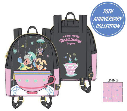Loungefly - Disney - Alice in Wonderland A Very Merry Unbirthday To You Mini Backpack (June Pre-Order)