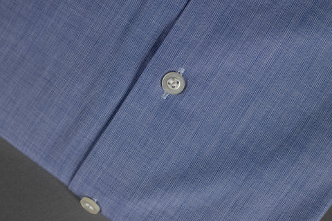 SMYTH & GIBSON SLIM FIT SOFT NAVY END ON END SHIRT