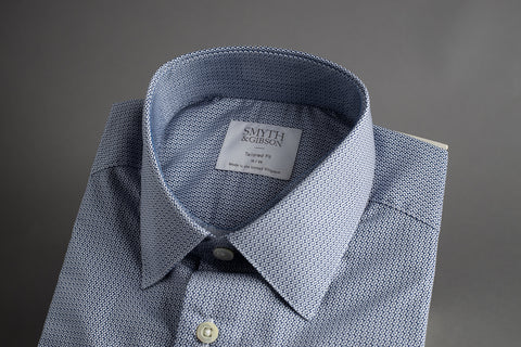 Smyth & Gibson Tailored Penny Square Blue Print