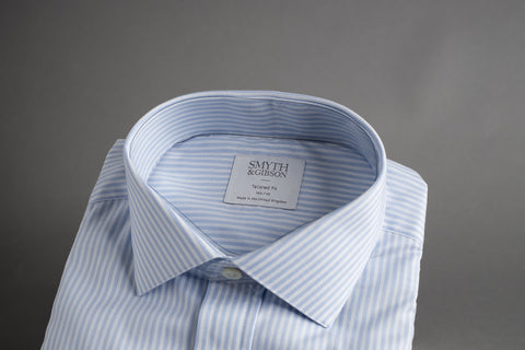 Smyth & Gibson Tailored Albany Blue Bengal Stripe