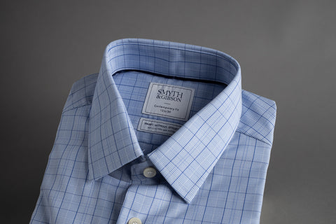 Smyth & Gibson SWE Contemporary Penny Square Multi Check Blue - Smyth & Gibson Shirts