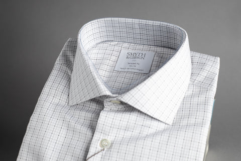 Smyth & Gibson Tailored Albany Small Multi Check Silver & Grey