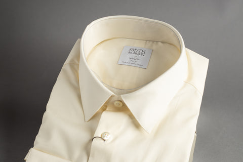 Smyth & Gibson Tailored Penny Square Yellow Poplin