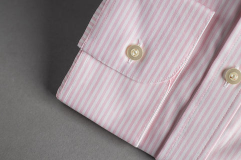 Smyth & Gibson Tailored Cutaway White Oxford Pink Stripe