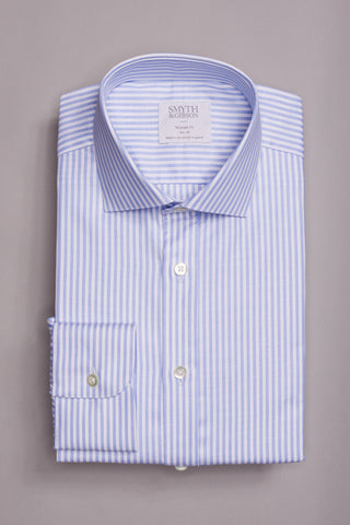 SMYTH & GIBSON BENGAL STRIPE SHIRT IN BLUE
