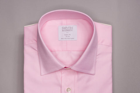SMYTH & GIBSON CLASSIC FIT OXFORD SHIRT IN PINK