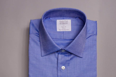 SMYTH & GIBSON CLASSIC FIT OXFORD SHIRT IN BLUE