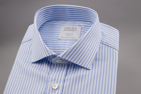 SMYTH & GIBSON BENGAL STRIPE SHIRT IN BLUE - Smyth & Gibson Shirts